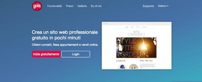 Yola: piattaforma per creare un blog o sito web gratis e in pochi minuti