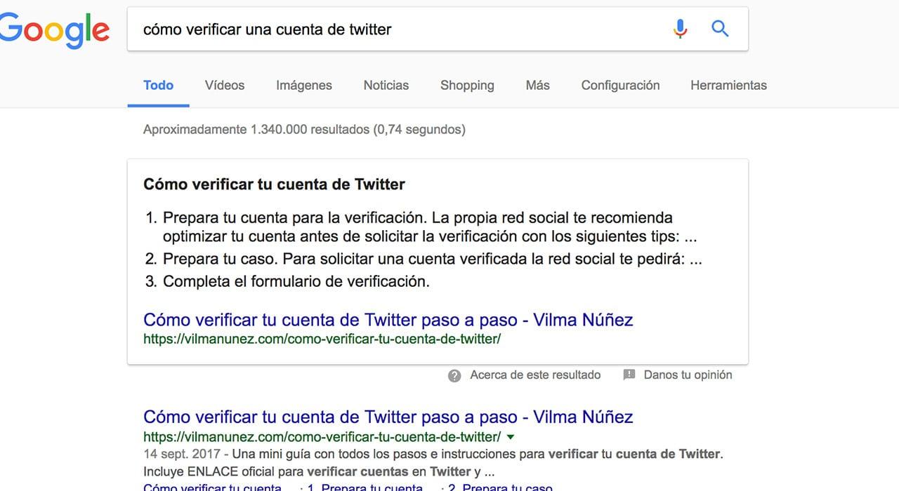 Ejemplo resultado Vilma Nuñez