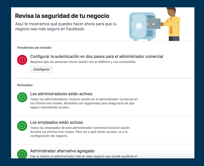 Facebook Busines Manager - Seguridad