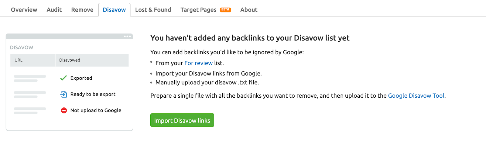 How to upload your disavow file