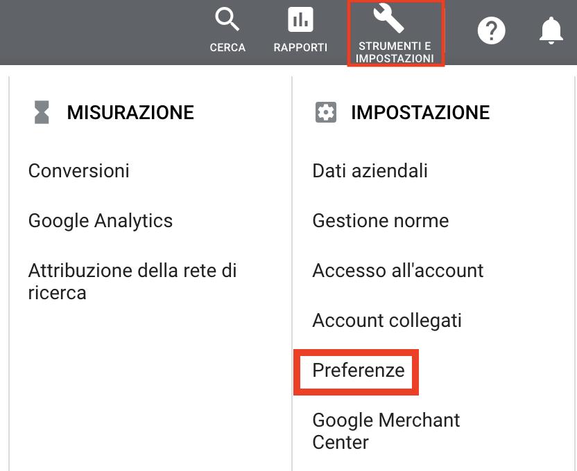 Come impostare notifiche di Google ads per i tuoi report