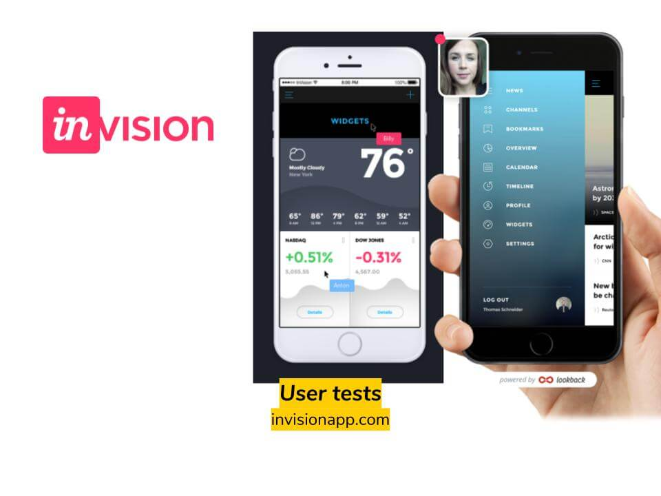 User tests: inVision app