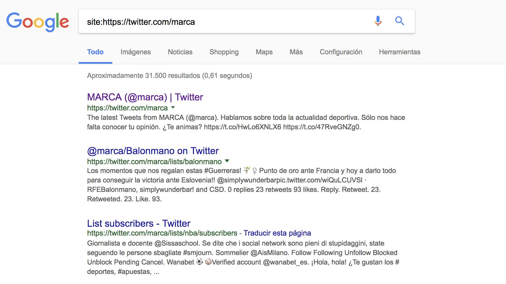 SEO en redes sociales - URLs de Marca
