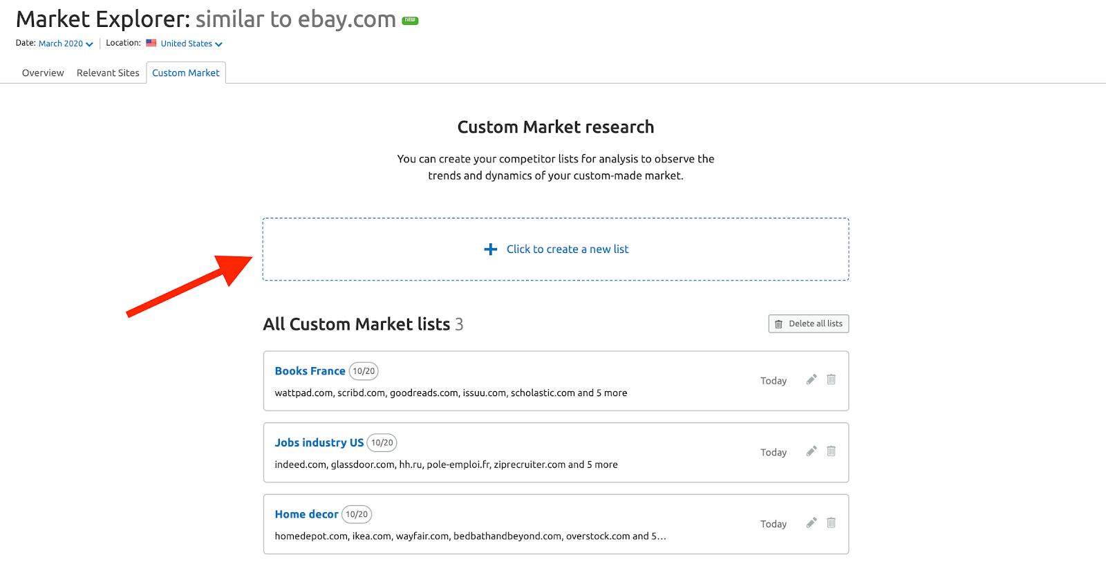 custom market