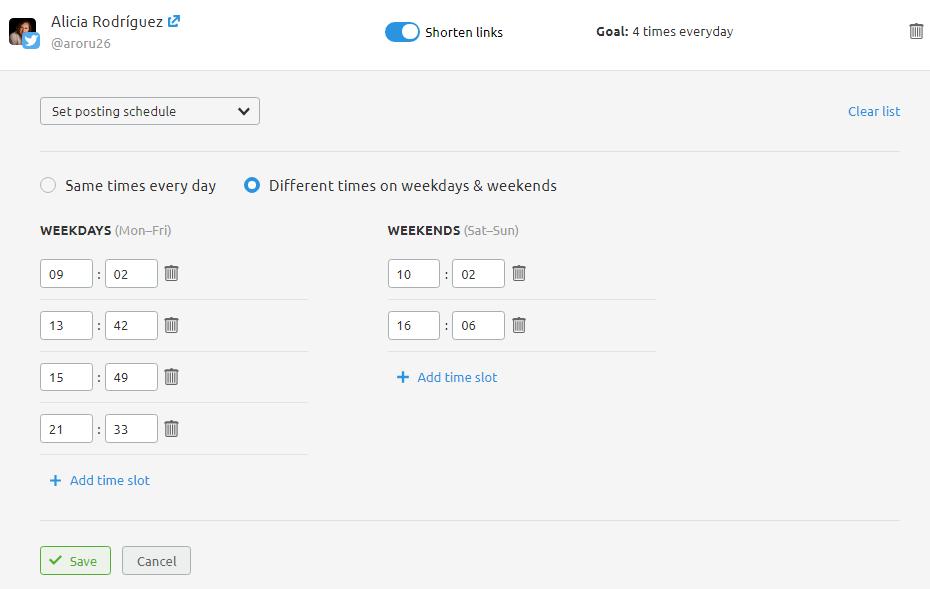 Planificación de contenidos en redes sociales - Programación