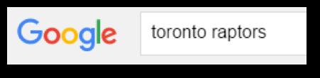 Google Search For Toronto Raptors