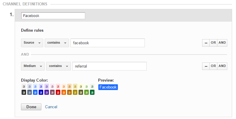 Combine Facebook Groupings into One Single Channel in Google Analytics