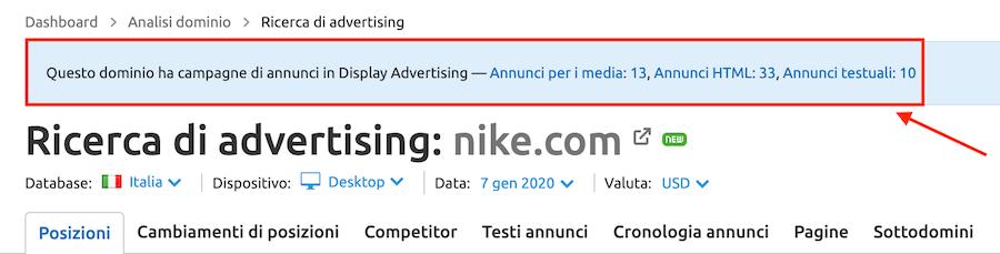 nuova funzione di anteprima di ricerca di advertising