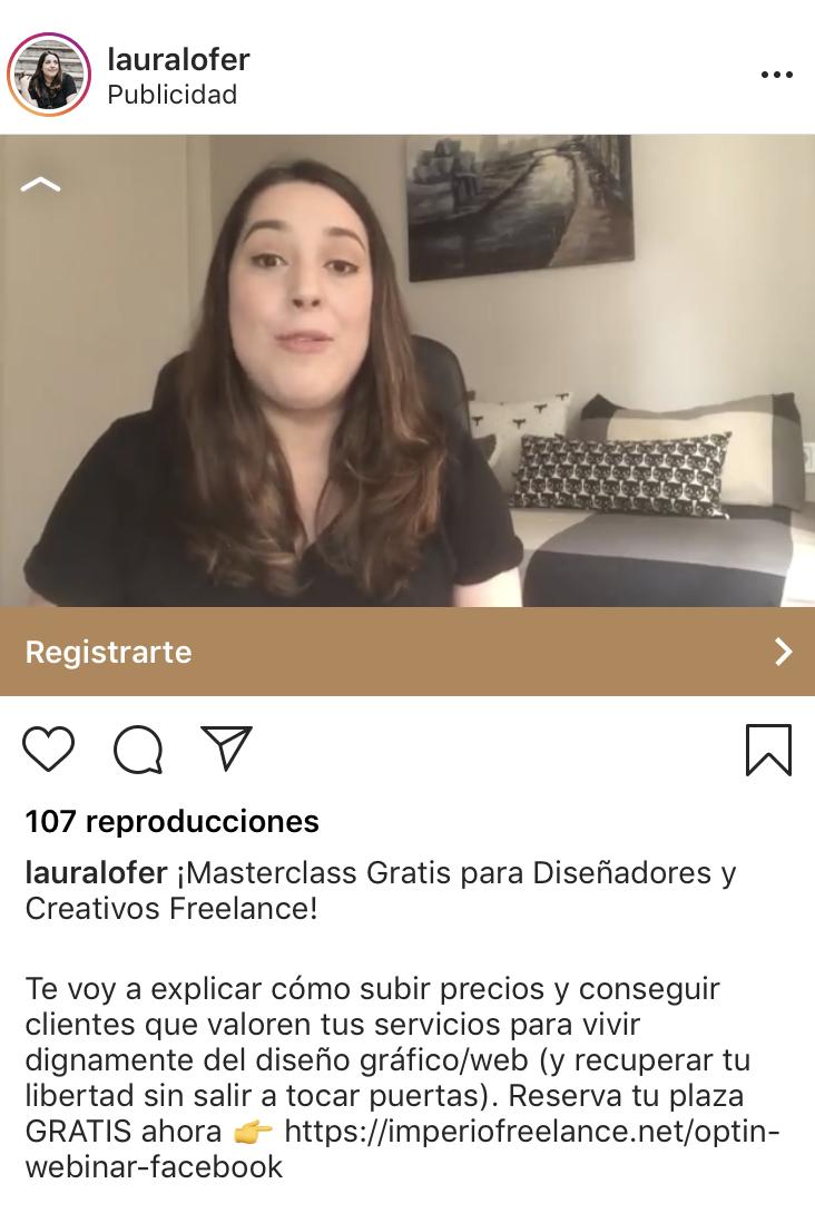 Instagram Ads - Ejemplo segmentación