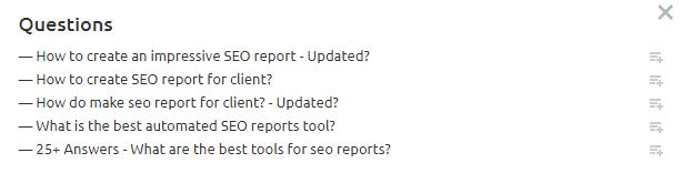 semrush topic tool find questions relevant content