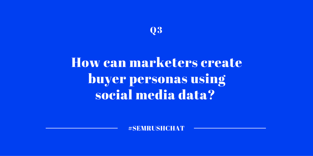 Buyer persona creation with social media data
