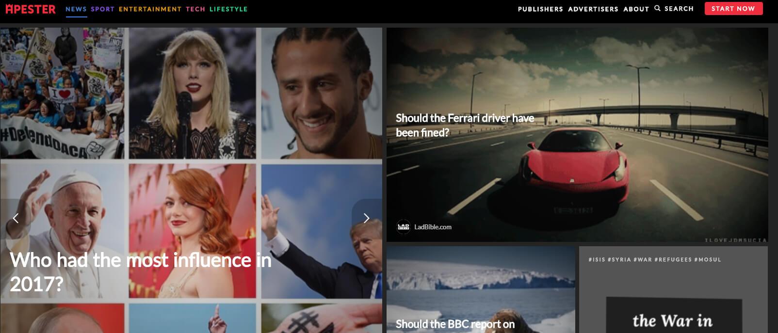 Apester: il tool per contenuti interattivi come sondaggi, quiz, etc...