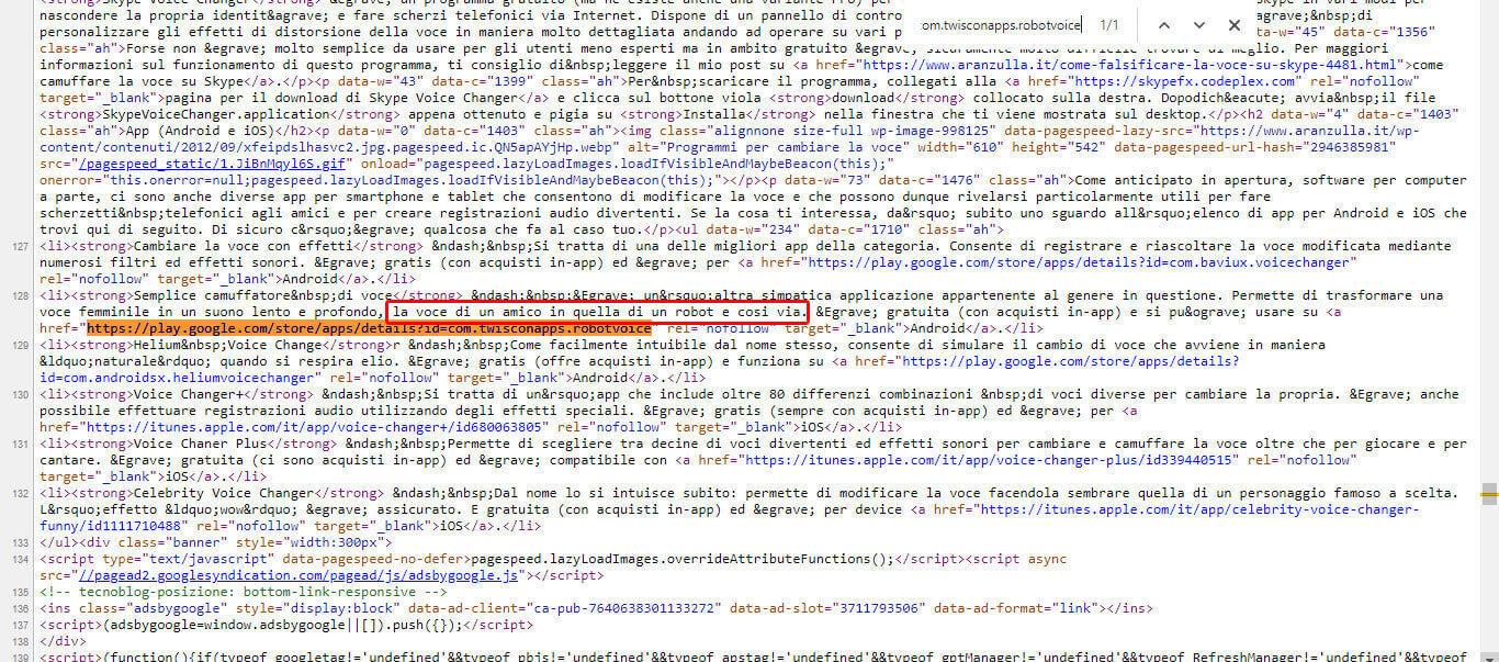 Trovare il link con errore 404