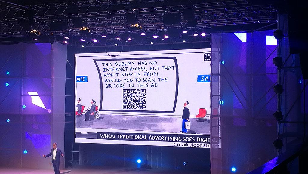Tom Fishburne parla di social ad Engage Praga 2017