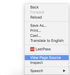 how to see a page source