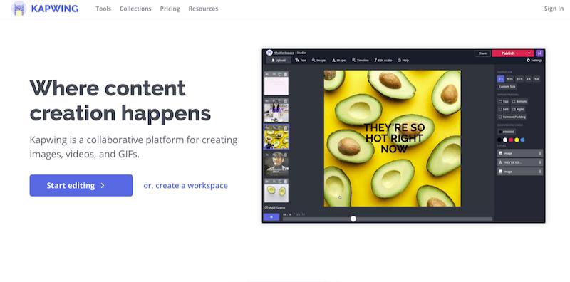 Kapwing: App per Instagram per creare immagini, video e gif