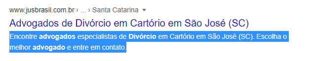 meta description exemplo