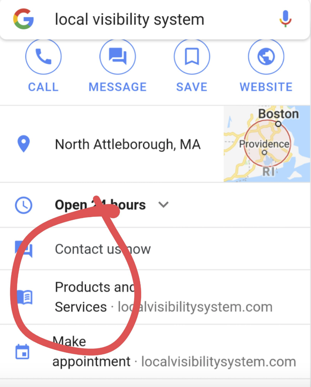 product & services in google my business