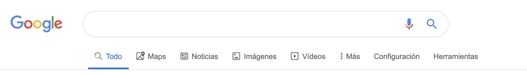 Búsqueda avanzada en Google - Tipos de búsquedas