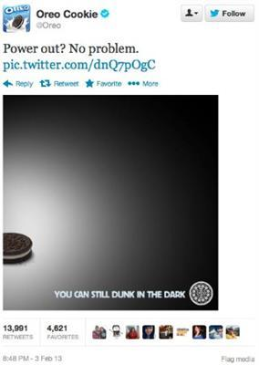 Oreo tweet newsjacking - 5 tendances du content marketing en 2020