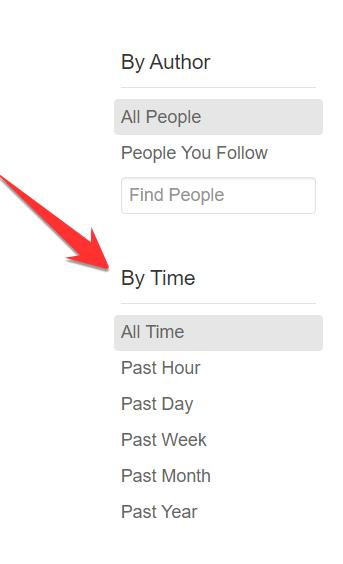 Filter on Quora