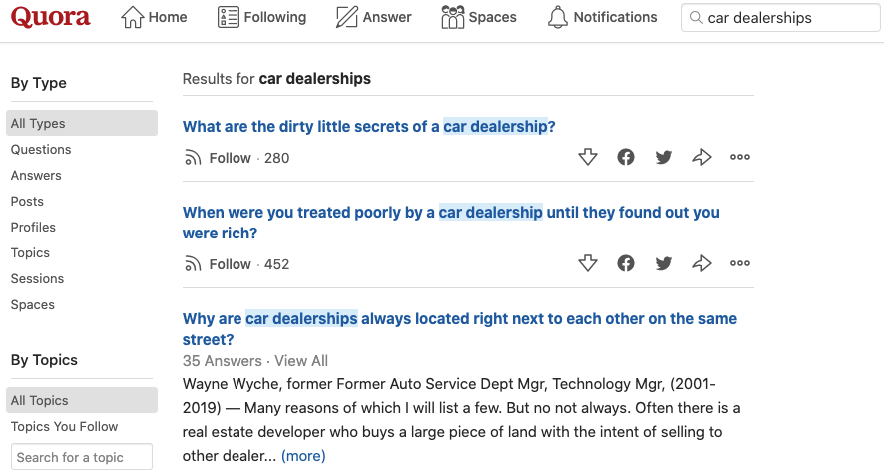 quora audience research