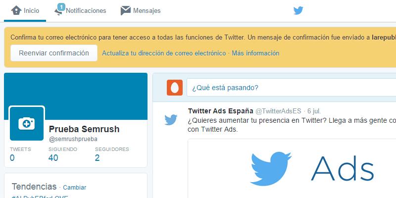 Crear cuenta Twitter - Paso 9
