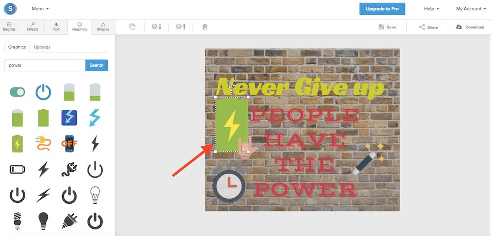 Le Icone che ti offre gratuitamente il programma di grafica Snappa