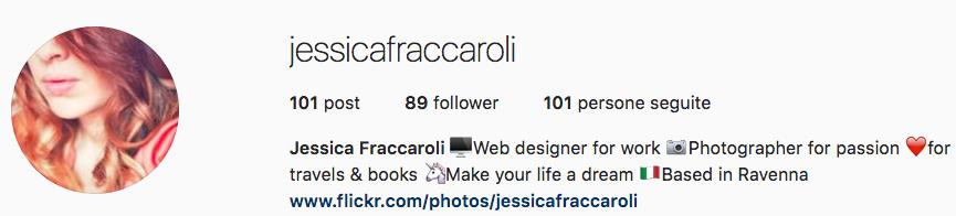 Jessica Fraccaroli: esperta Instagram
