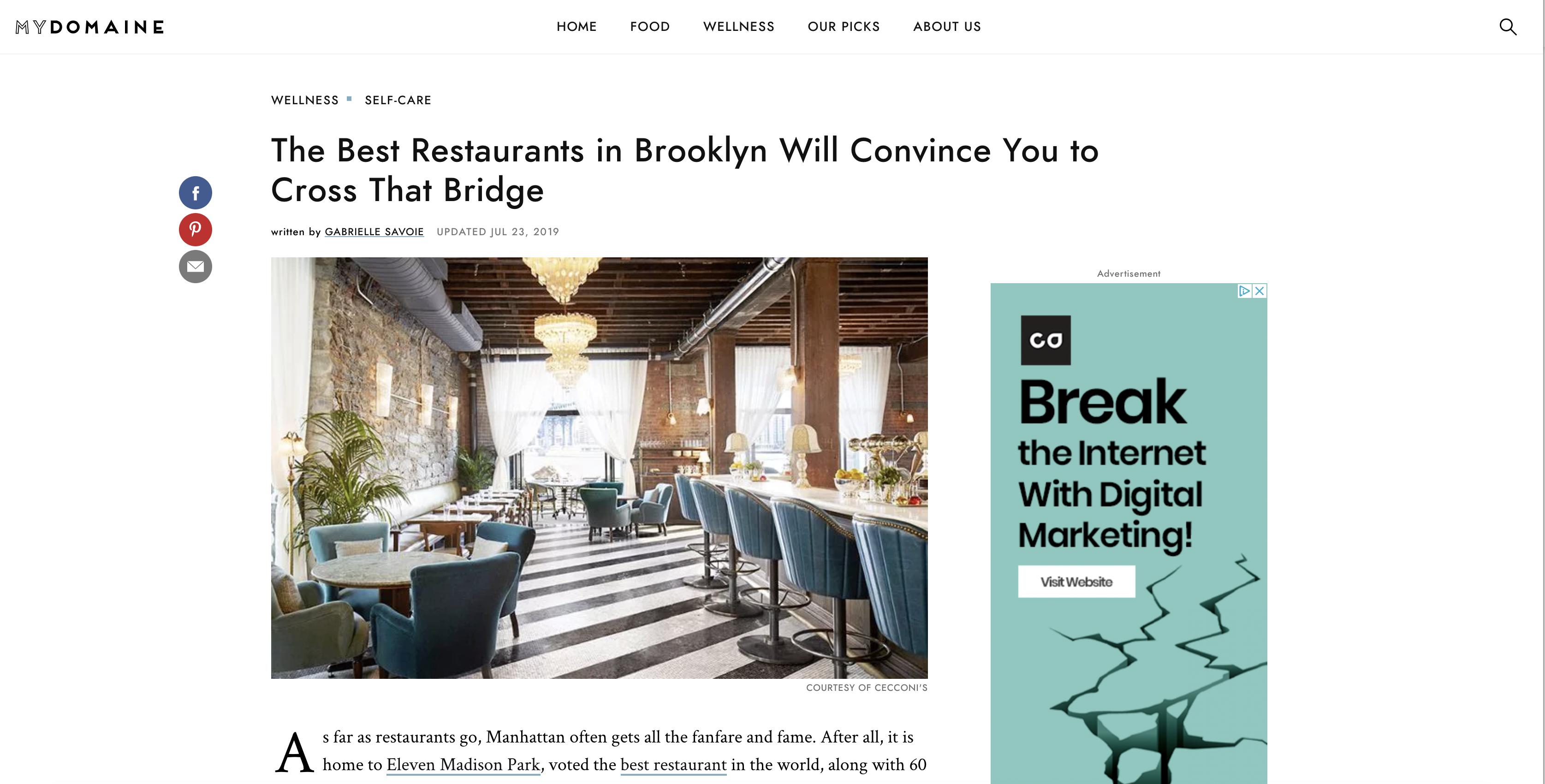 Best Restaurants Listicle screenshot