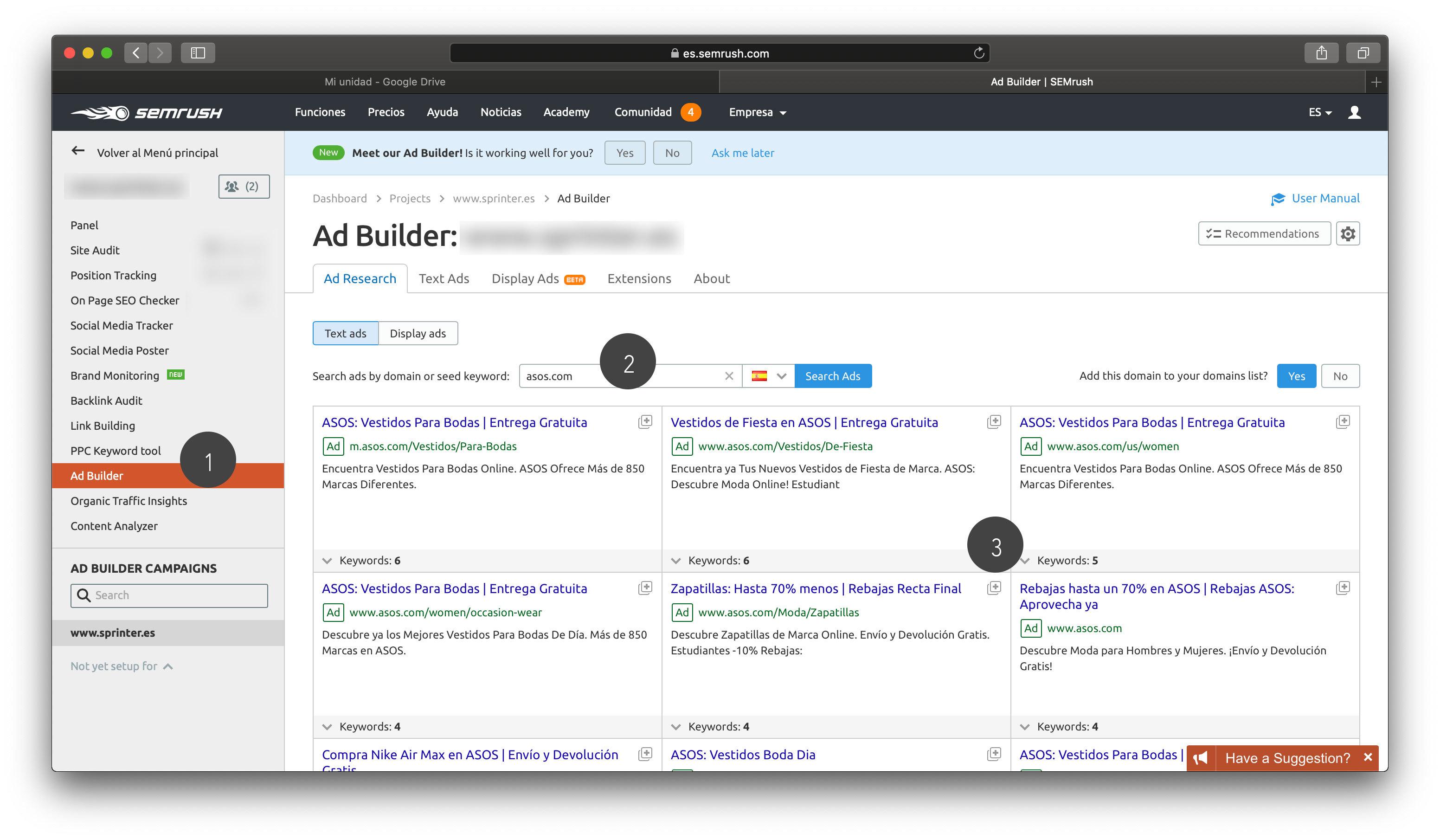 Ad Builder - Campañas Google Ads