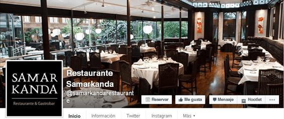 Redes Sociales para restaurantes - CTA y foto de perfil ok en Facebook