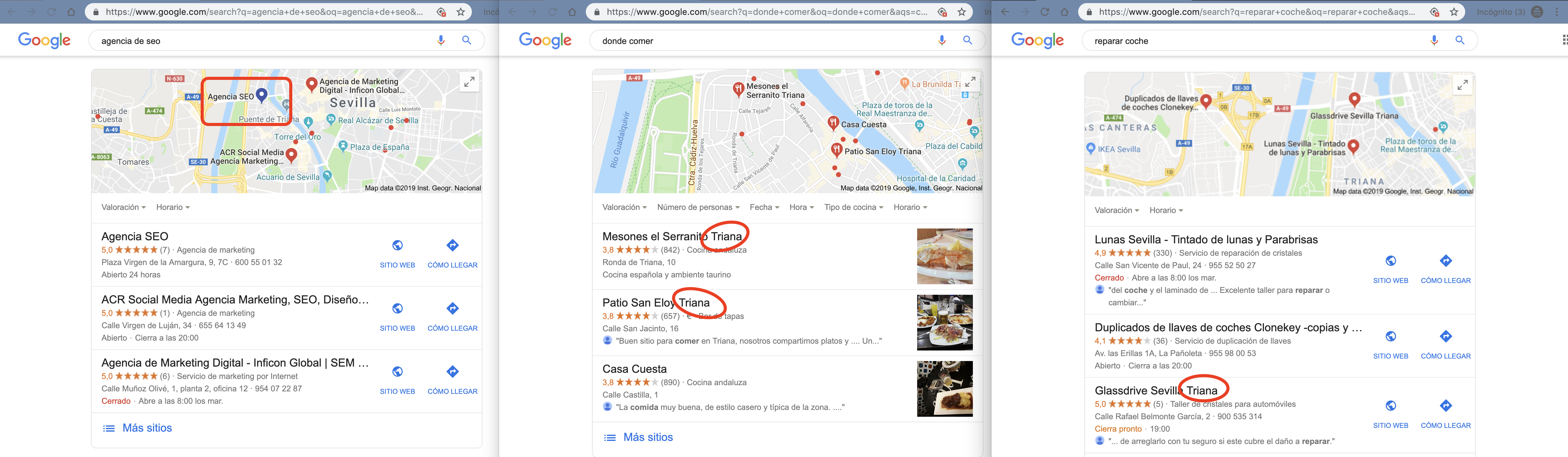 SERPs - Pack local