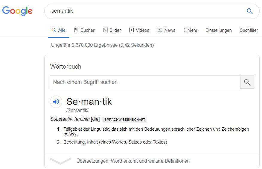 Google: Was ist Semantik?