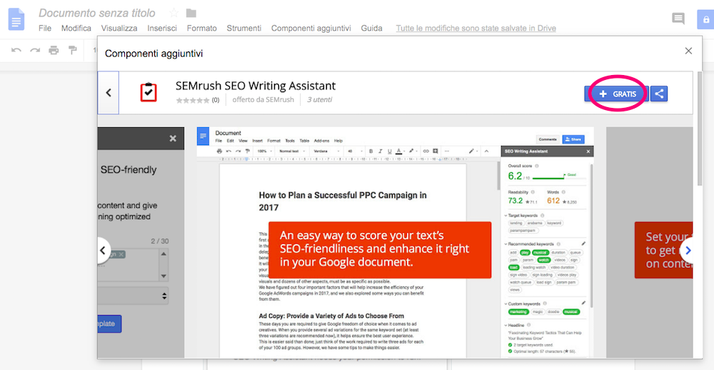 Come installare l'estensione SEO Writing Assistant