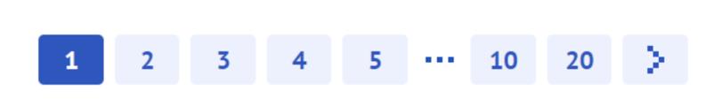 Numerazione delle pagine di contenuti su un sito