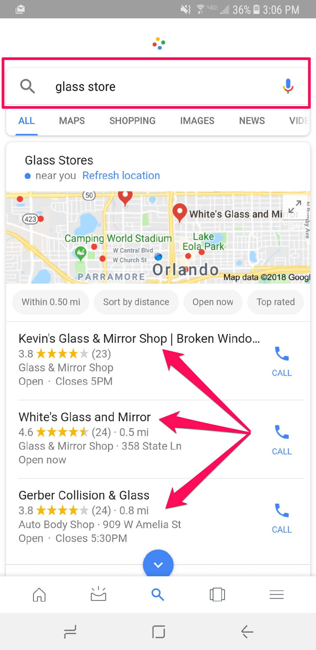 mobile seo voice search local results