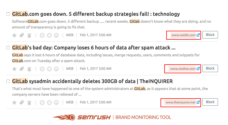 How to find brand mentions using SEMrush Brand monitoring tool