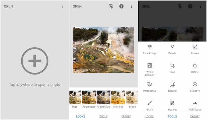 Snapseed è la migliore app per modificare le foto su instagram