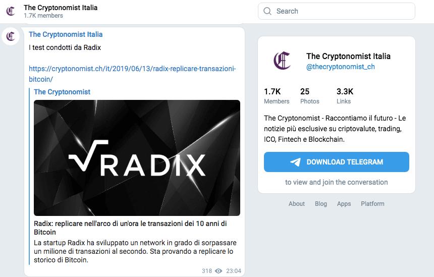 The cryptonomist è il miglior canale a tema criptovalute e blockchain