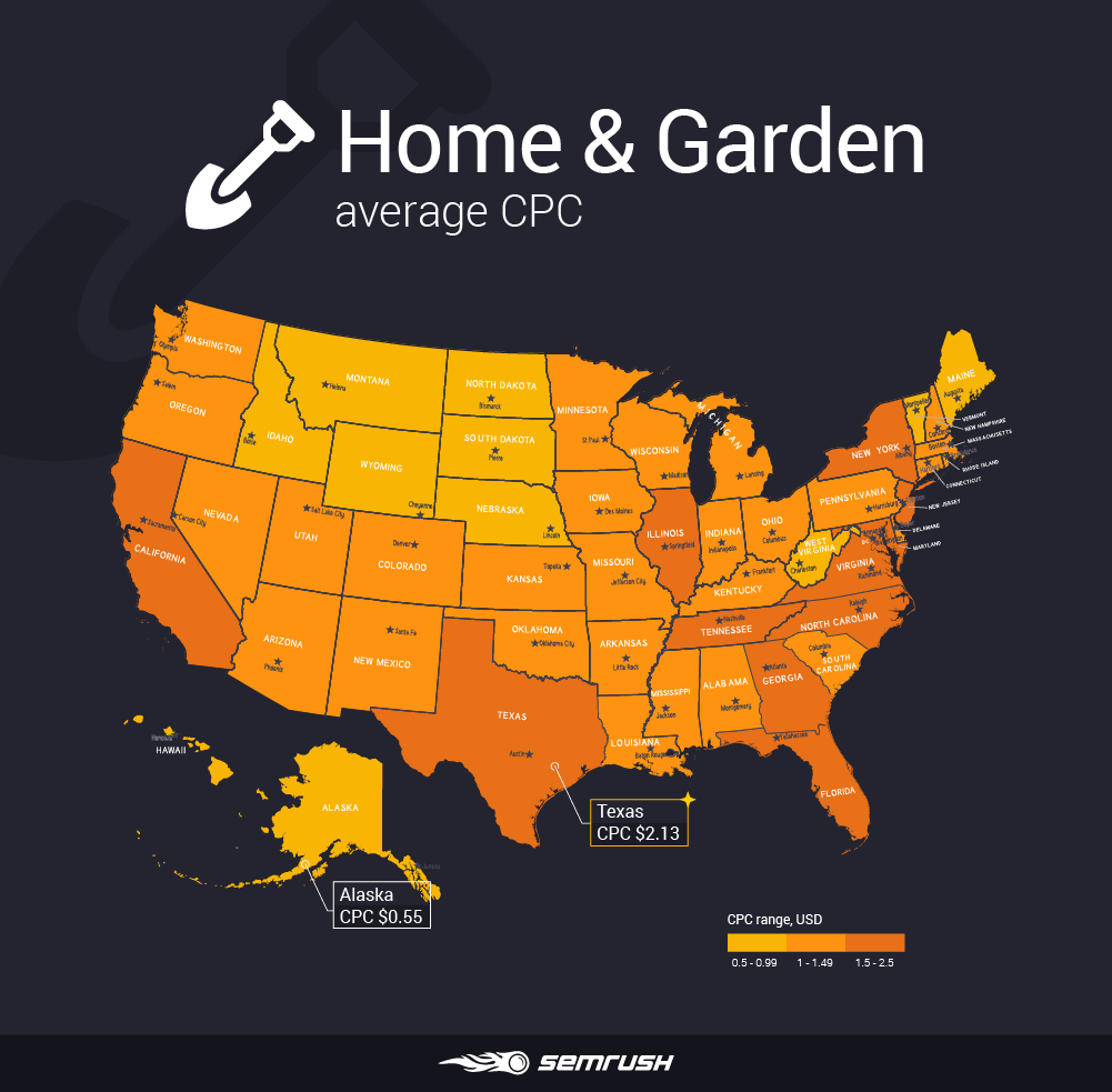Most and least expensive states to advertise in - Home & Garden
