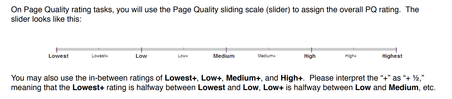 page quality rating tasks