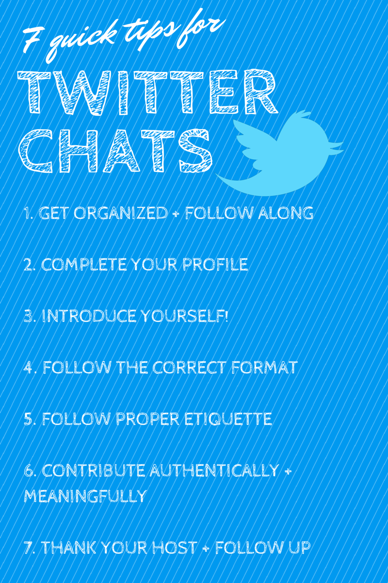 7 quick tips for Twitter chats