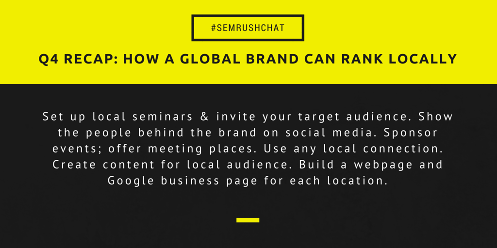 How a global brand can rank locally