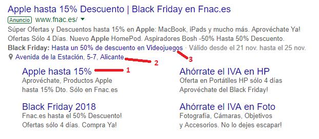 Extensiones de google ads