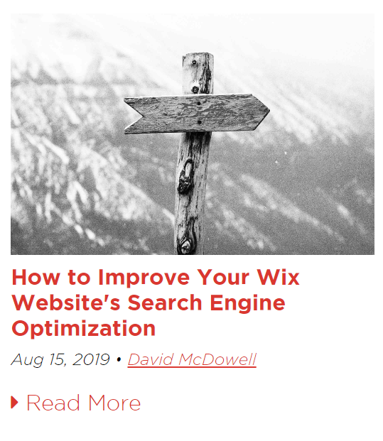 How to Improve Your Wix Website's Search Engine Optimization Blog