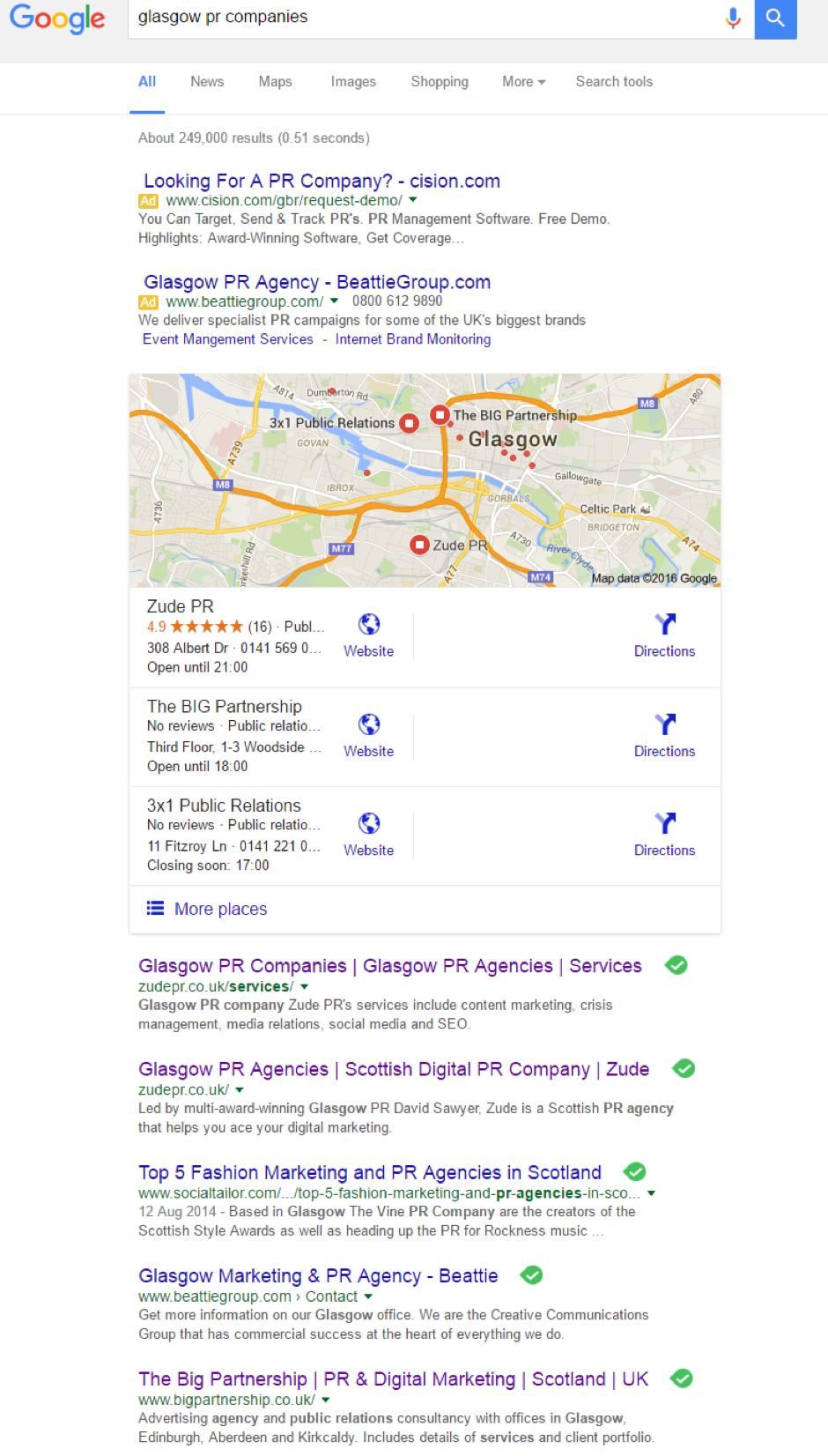 Glasgow PR Companies