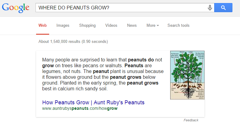 Where do peanuts grow