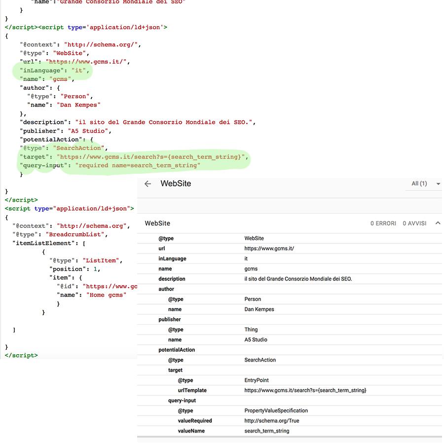 entity website sviluppo