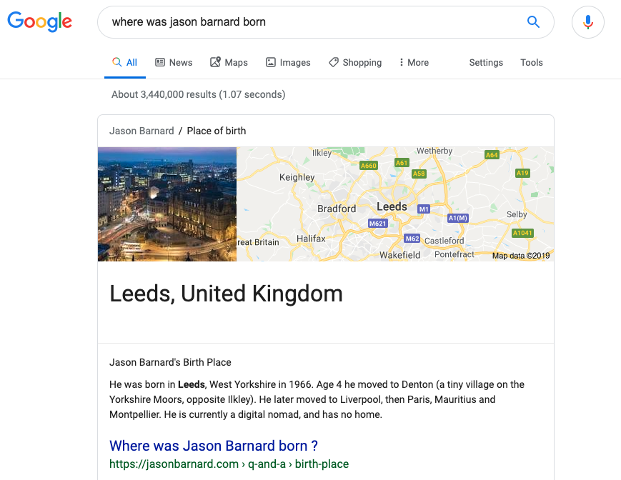 Where was Jason Barnard Born FAQ Page